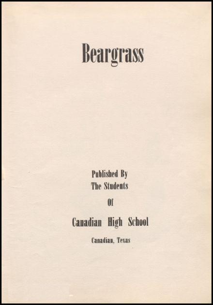 1952 Canadian High School Yearbook Page 7