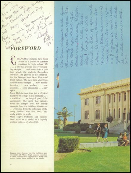 1963 Mesa High School Yearbook Page 8