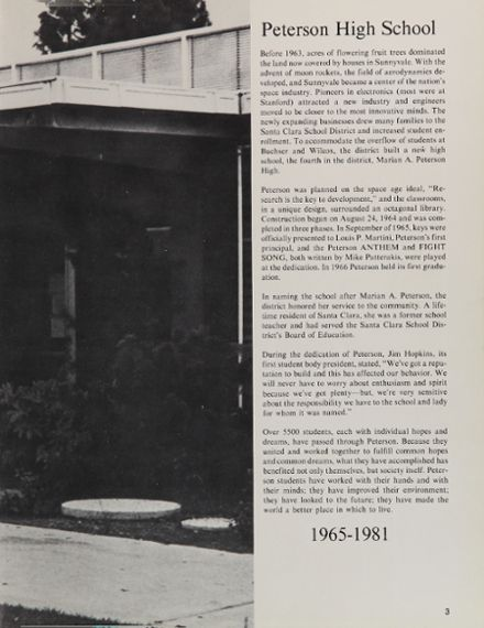 1981 Peterson High School Yearbook Page 7