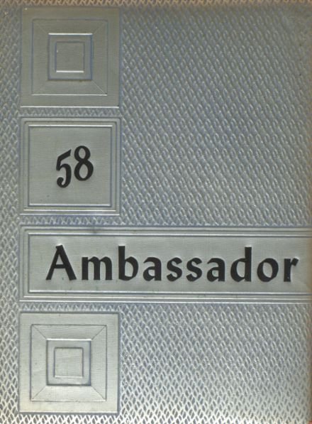 1958 Brethren High School Yearbook Cover