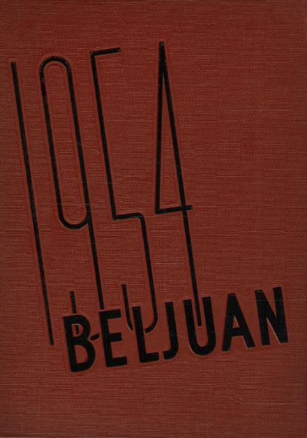1954 Bellaire High School Yearbook Cover
