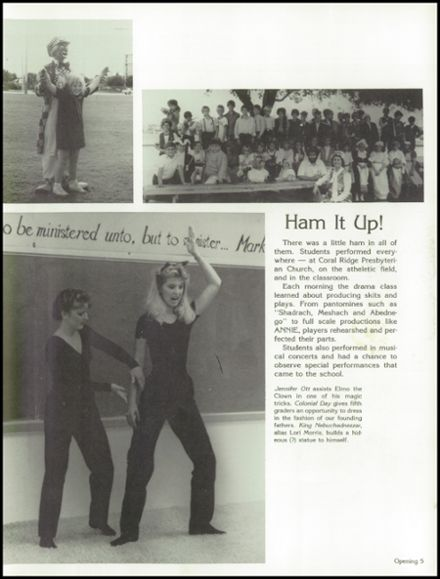 1985 Westminster Academy Yearbook Page 9
