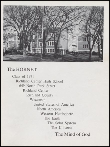 1971 Richland Center High School Yearbook Page 5