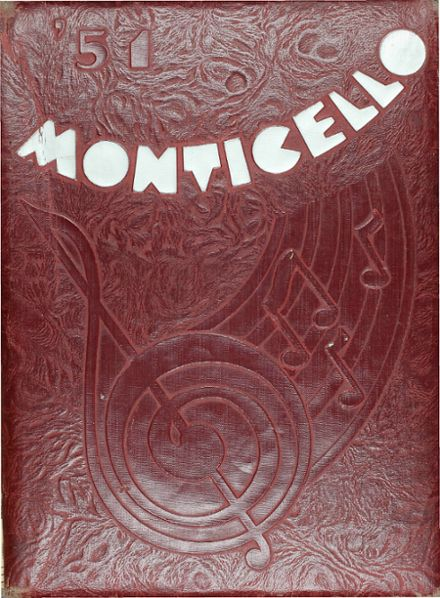 1951 Thomas Jefferson High School Yearbook Cover