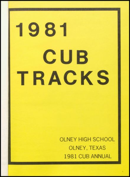 1981 Olney High School Yearbook Page 5
