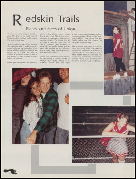 1989 Union High School Yearbook Page 6
