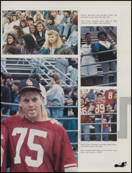 1989 Union High School Yearbook Page 9
