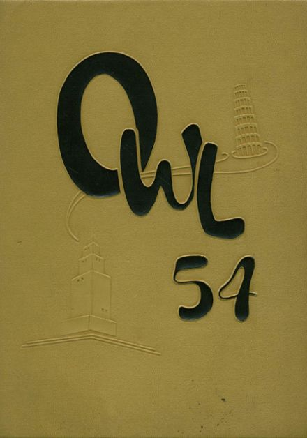 1954 Fresno High School Yearbook Cover
