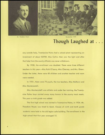 1962 Twentynine Palms High School Yearbook Page 8