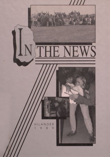 1989 Hiland High School Yearbook Cover