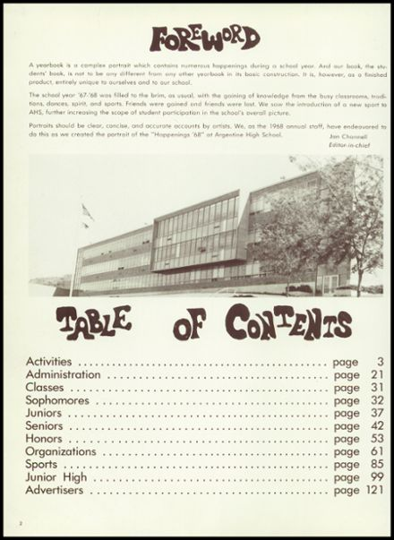 1968 Argentine High School Yearbook Page 6