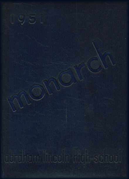 1951 Lincoln High School Yearbook Cover
