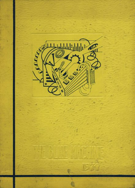 1974 Neal F. Simeon Vocational High school Yearbook Cover