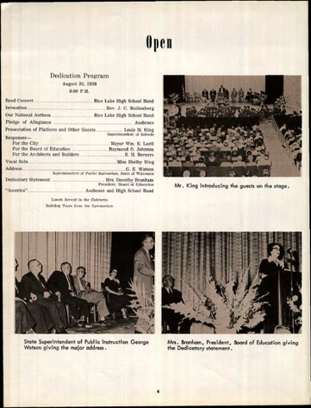 1957 Rice Lake High School Yearbook Page 8