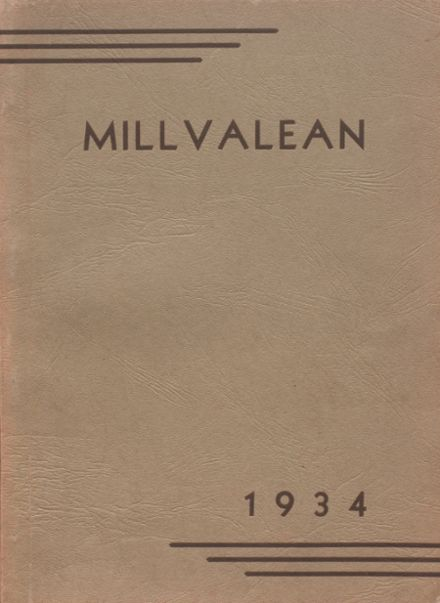 1934 Millvale High School Yearbook Cover