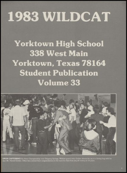 1983 Yorktown High School Yearbook Page 5