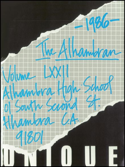 1986 Alhambra High School Yearbook Page 5