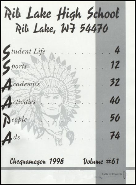 1998 Rib Lake High School Yearbook Page 5