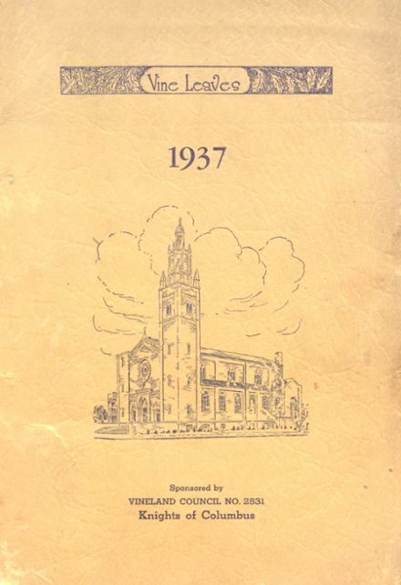 1937 Sacred Heart High School Yearbook Cover
