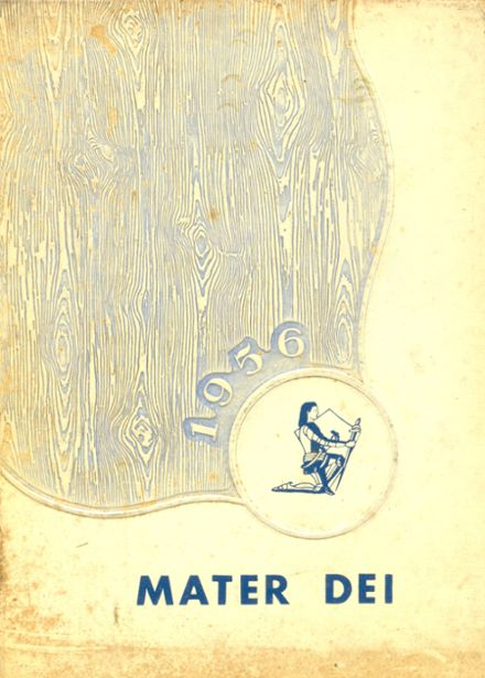 1956 Mater Dei Catholic High School Yearbook Cover