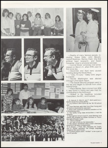 1983 Eureka High School Yearbook Page 9