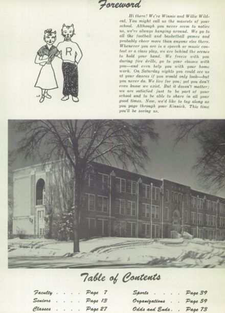 1955 River Falls High School Yearbook Page 9