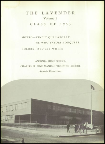 1953 Ansonia High School Yearbook Page 5