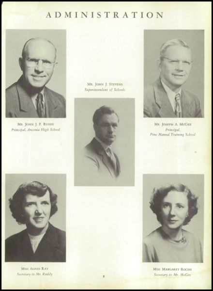1953 Ansonia High School Yearbook Page 9