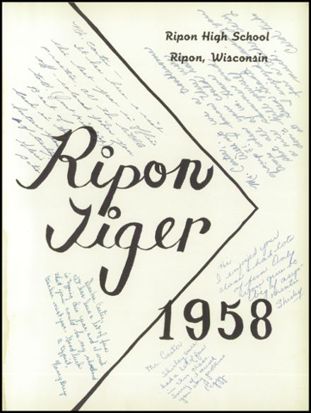 1958 Ripon High School Yearbook Page 5