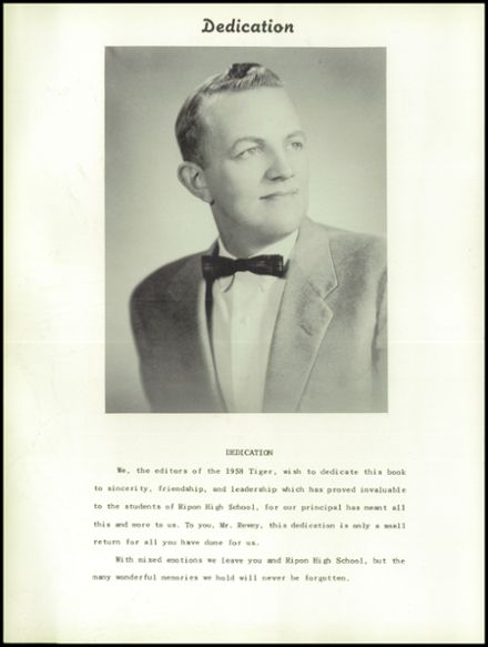 1958 Ripon High School Yearbook Page 8