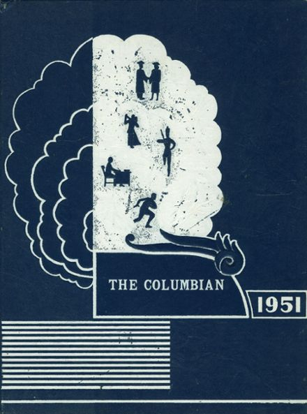 1951 Columbiaville High School Yearbook Cover