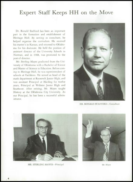 1970 Heritage Hall High School Yearbook Page 6