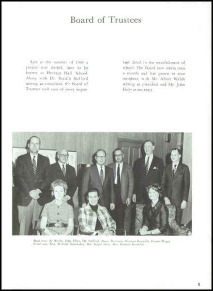 1970 Heritage Hall High School Yearbook Page 7