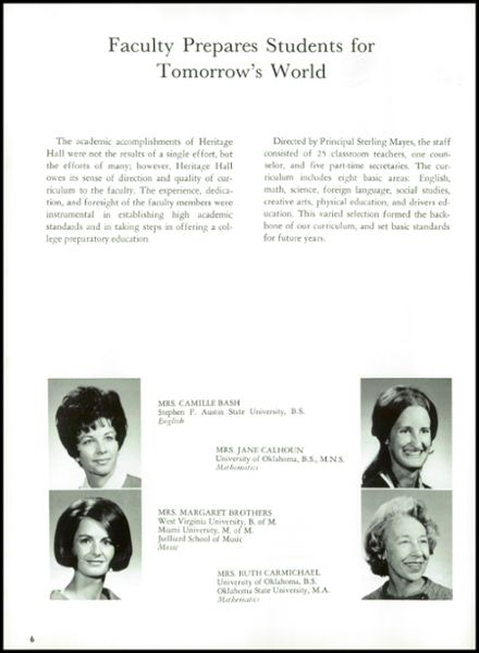 1970 Heritage Hall High School Yearbook Page 8