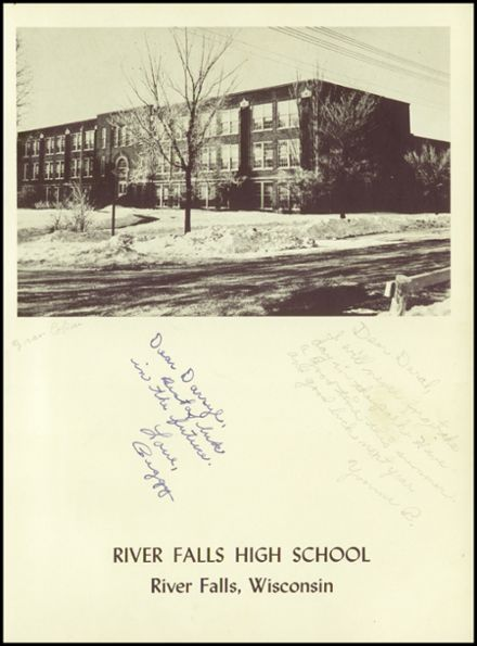 1952 River Falls High School Yearbook Page 9