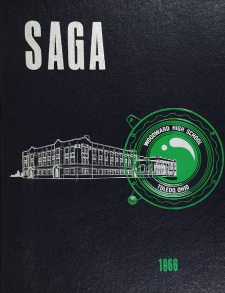 1966 Woodward High School Yearbook Cover