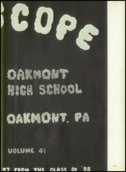 1957 Oakmont High School Yearbook Page 7