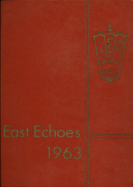 1963 East High School Yearbook Cover