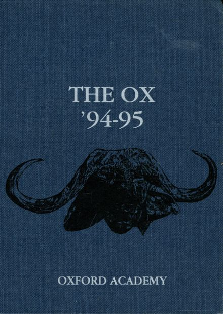 1995 Oxford Academy Yearbook Cover