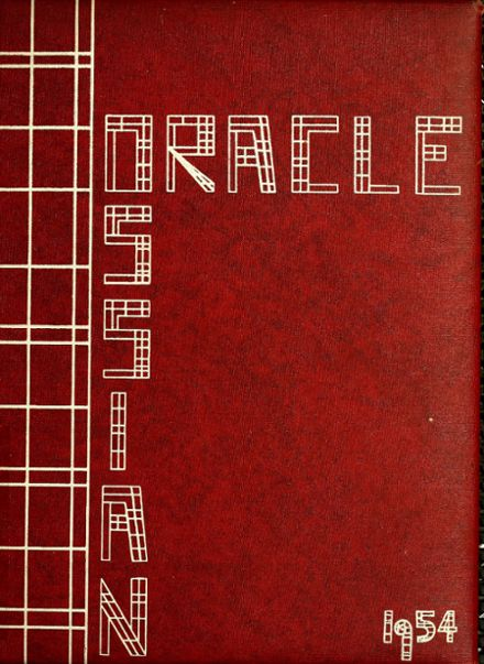 1954 Ossian High School Yearbook Cover