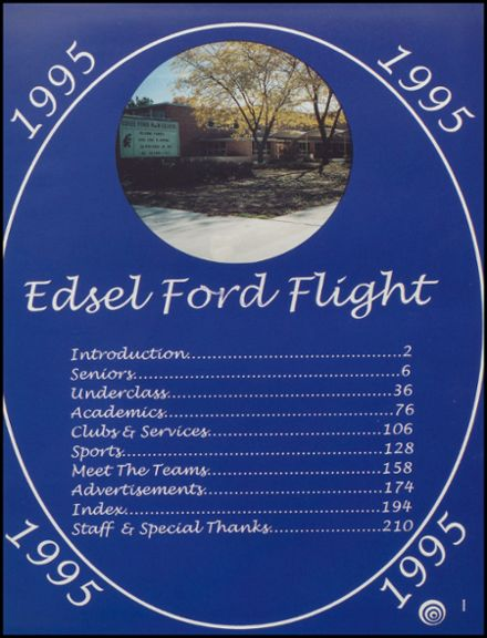 1995 Edsel Ford High School Yearbook Page 5