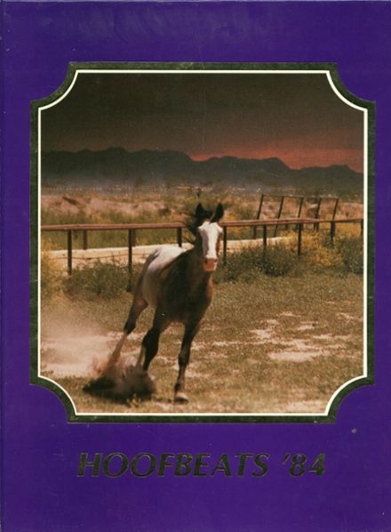 1984 Burges High School Yearbook Cover