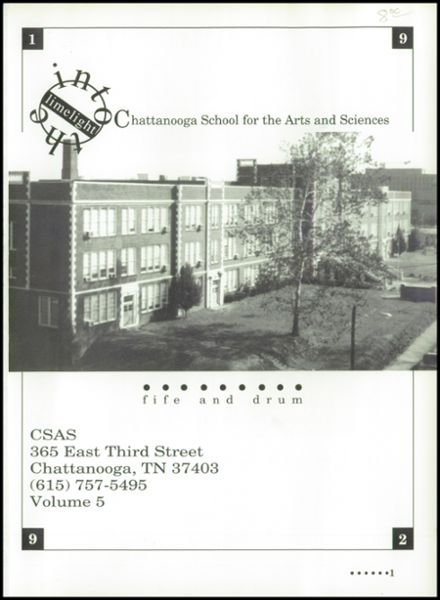 1992 Chattanooga Arts & Sciences High School Yearbook Page 5