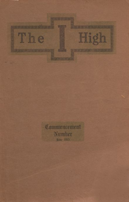 1915 Independence Christian High School Yearbook Cover