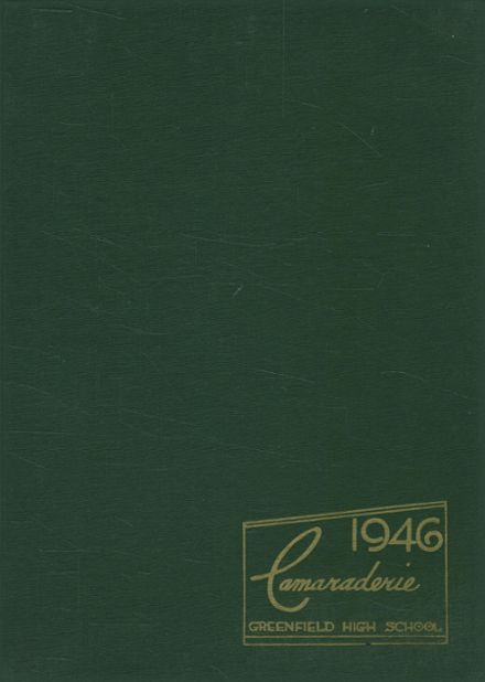 1946 Greenfield High School Yearbook Cover