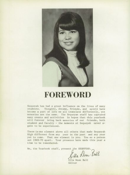 1970 Sequoyah High School Yearbook Page 6