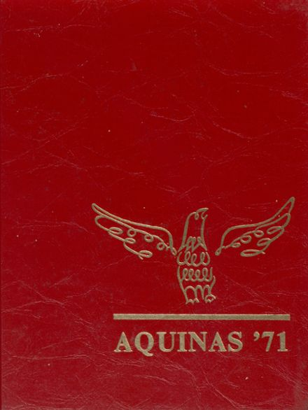1971 St. Thomas Aquinas High School Yearbook Cover
