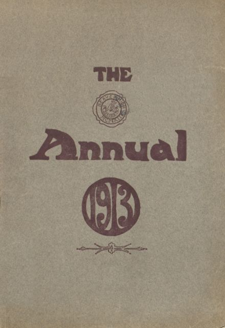 1913 Beaver Area High School Yearbook Cover