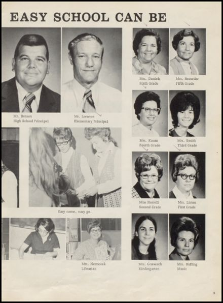 1973 Mulhall-Orlando High School Yearbook Page 9