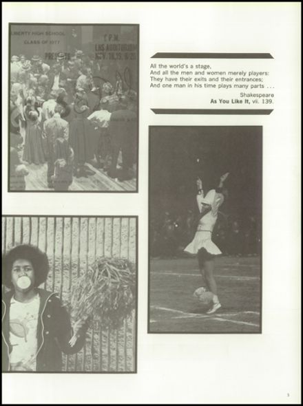 1977 Liberty High School Yearbook Page 9